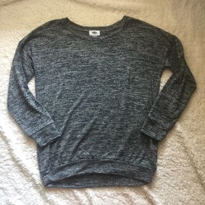 Marbled gray burnout pullover tee sweater
